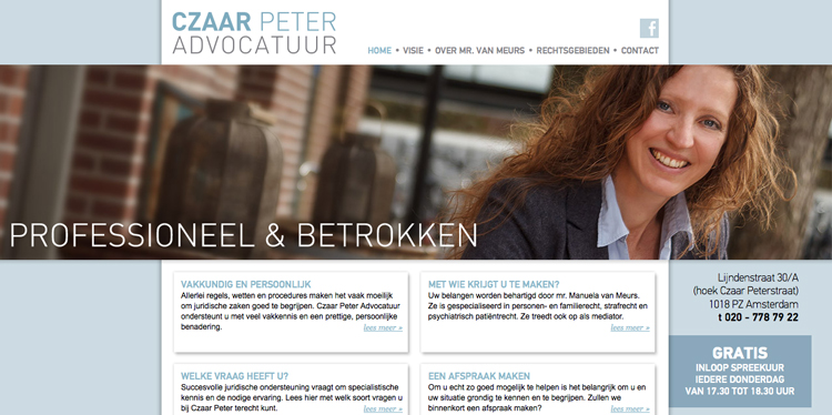 Czaar Peter website