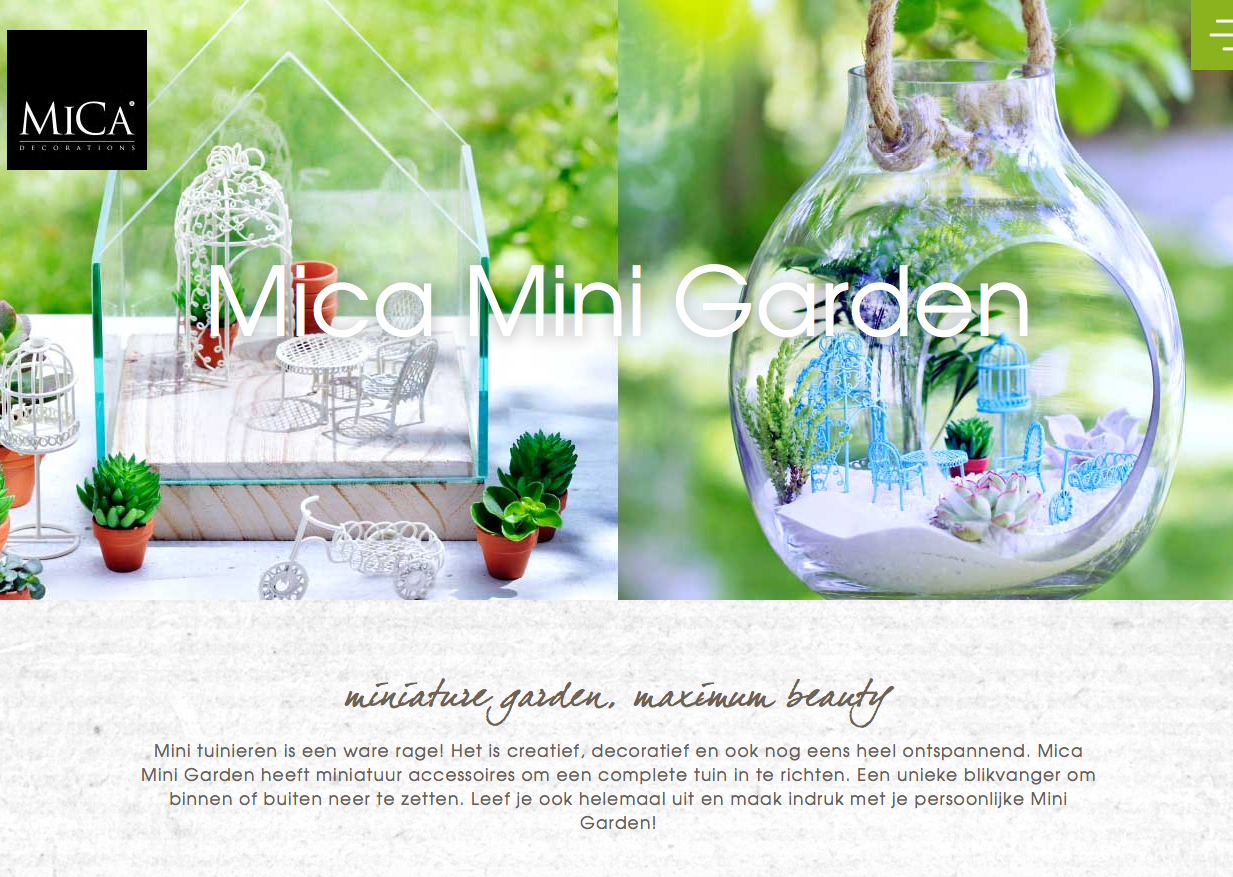Website Mica Mini Gardens