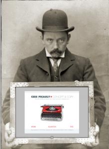 Lekker ouderwets. Een typemachine.