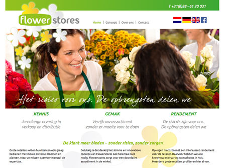 Flower Stores website