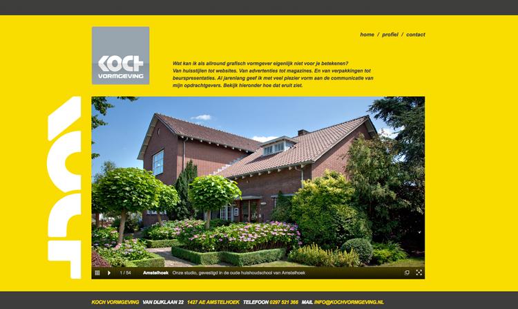Koch vormgeving website