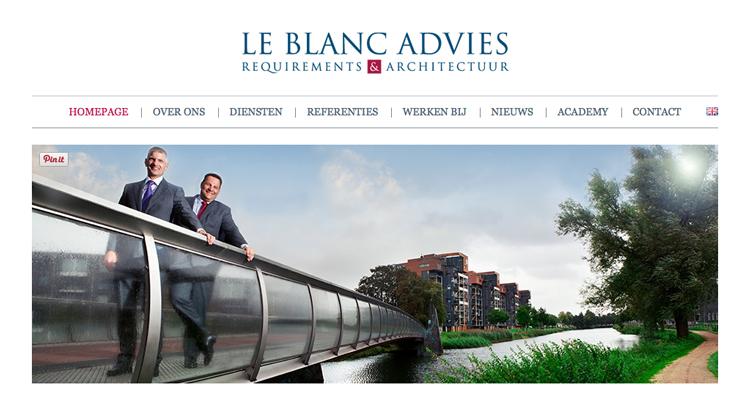 Le Blanc website