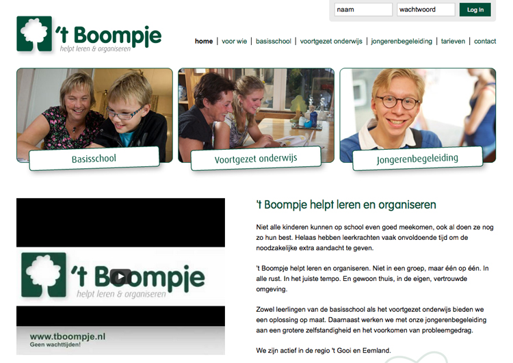 Website 't Boompje