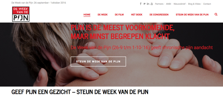 Website Week van de Pijn